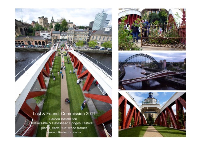 Installation on the Swing bridge, Newcastle Upon Tyne 2011