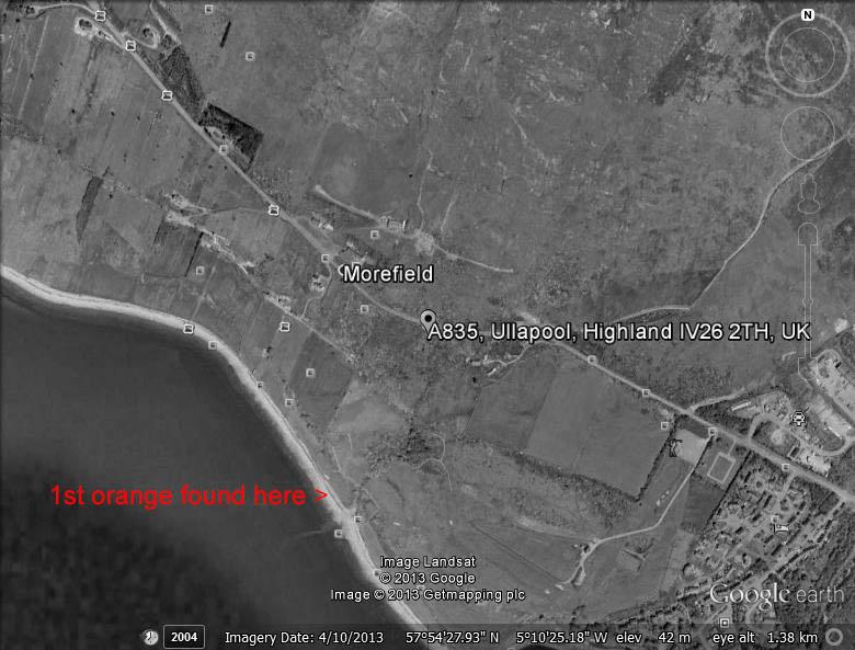 Map of 1st orange found