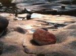 new stone on rhue beach