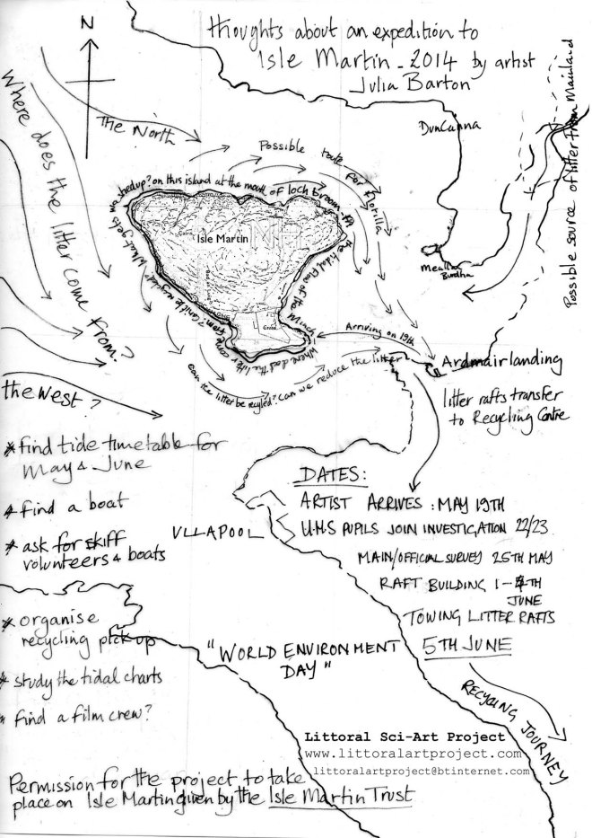 Sketched out thoughts - Isle Martin - Littoral Art Project