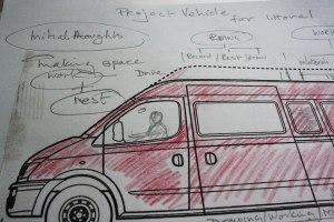 Van front sketch