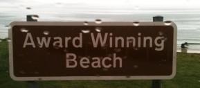award winning beach sign