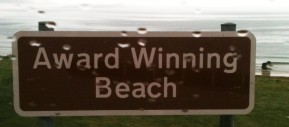 award winning beach sign