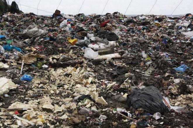 landfill mound