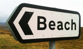 Beach sign copy
