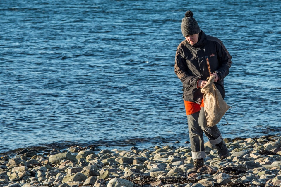Ullapool collecting samples