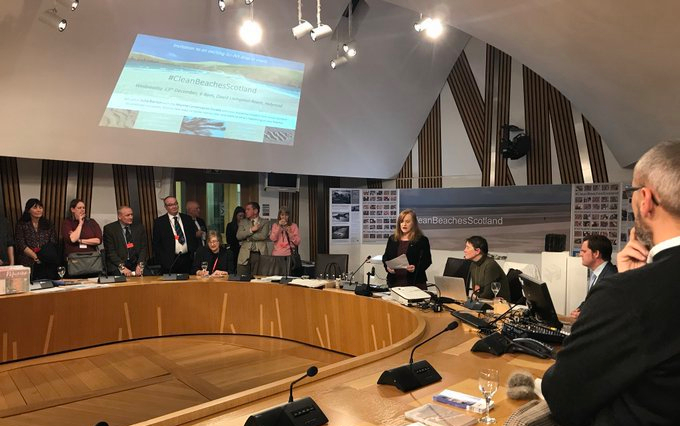 #CleanBeachesScotland event. Scottish Parliament 13.12.18