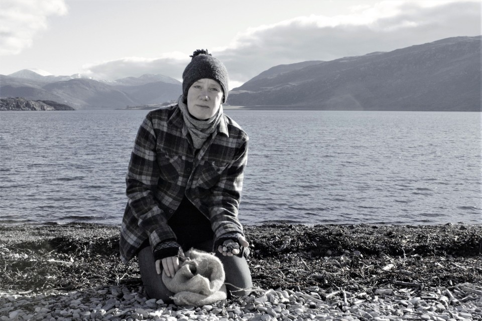 collecting on Ullapool beach