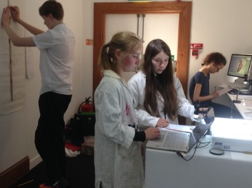 UHS S3's working in the exhibition lab (2)