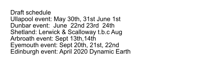 dates for blog