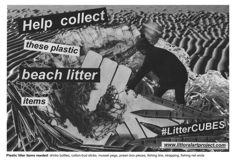 Landscape poster with list of litter items